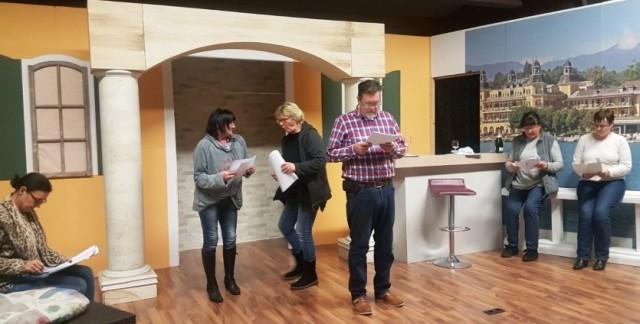 Theater Vino Spendable und die Proben zum neuen Stück ....für den guten Zweck